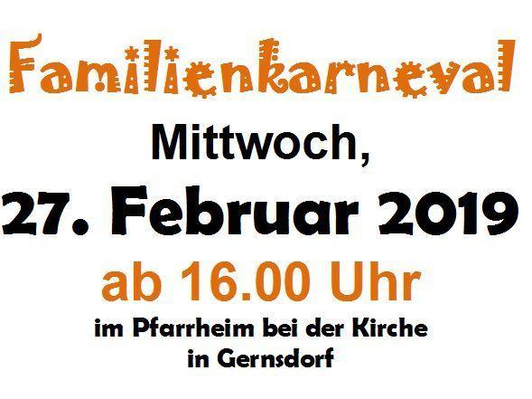 Familienkrarneval im Pfarrheim Gernsdorf
