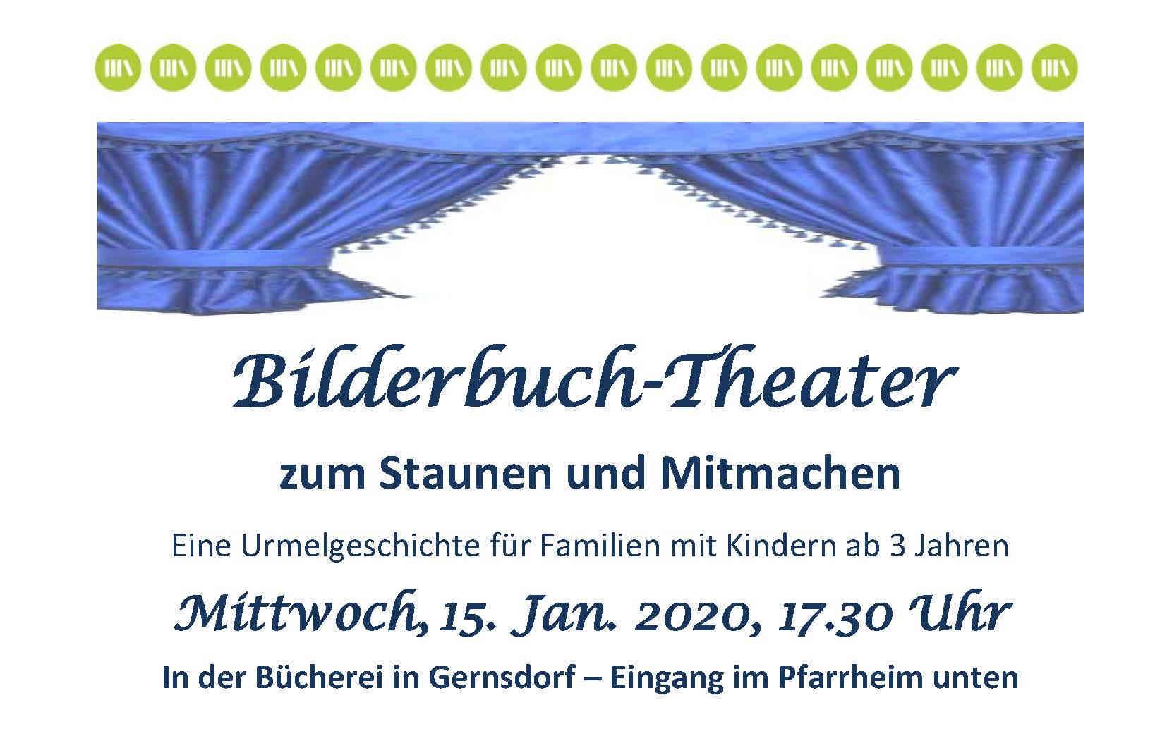 Einladung Bilderbuchtheater Bücherei Gernsdorf